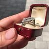 1.82ctw Edwardian Diamond Lozenge Dinner Ring 23