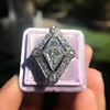 1.82ctw Edwardian Diamond Lozenge Dinner Ring 14