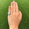 1.82ctw Edwardian Diamond Lozenge Dinner Ring 10