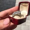 1.82ctw Edwardian Diamond Lozenge Dinner Ring 22