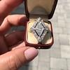 1.82ctw Edwardian Diamond Lozenge Dinner Ring 25