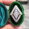 1.82ctw Edwardian Diamond Lozenge Dinner Ring 6