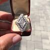 1.82ctw Edwardian Diamond Lozenge Dinner Ring 21
