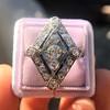 1.82ctw Edwardian Diamond Lozenge Dinner Ring 27