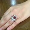 3.70tcw Edwardian Spinel & Old European Cut Diamond Dinner Ring 23
