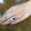 3.70tcw Edwardian Spinel & Old European Cut Diamond Dinner Ring 17