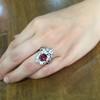 3.70tcw Edwardian Spinel & Old European Cut Diamond Dinner Ring 18