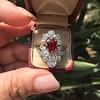 3.70tcw Edwardian Spinel & Old European Cut Diamond Dinner Ring 38