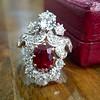 3.70tcw Edwardian Spinel & Old European Cut Diamond Dinner Ring 19