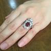 3.70tcw Edwardian Spinel & Old European Cut Diamond Dinner Ring 25