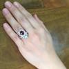 3.70tcw Edwardian Spinel & Old European Cut Diamond Dinner Ring 24