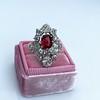 3.70tcw Edwardian Spinel & Old European Cut Diamond Dinner Ring 40