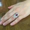 3.70tcw Edwardian Spinel & Old European Cut Diamond Dinner Ring 34