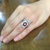 3.70tcw Edwardian Spinel & Old European Cut Diamond Dinner Ring 22