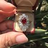 3.70tcw Edwardian Spinel & Old European Cut Diamond Dinner Ring 21