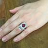 3.70tcw Edwardian Spinel & Old European Cut Diamond Dinner Ring 31