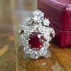 3.70tcw Edwardian Spinel & Old European Cut Diamond Dinner Ring 15