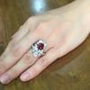 3.70tcw Edwardian Spinel & Old European Cut Diamond Dinner Ring 29