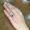 3.70tcw Edwardian Spinel & Old European Cut Diamond Dinner Ring 33