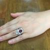 3.70tcw Edwardian Spinel & Old European Cut Diamond Dinner Ring 32