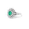 2.05ctw Emerald and Diamond Cocktail Ring 1