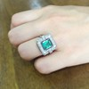 1.60ctw Emerald and Diamond Cocktail Ring 18