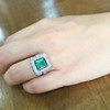 1.60ctw Emerald and Diamond Cocktail Ring 19