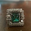 1.60ctw Emerald and Diamond Cocktail Ring 0