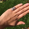 2.50ctw Geometric Old Mine Cut Diamond Dinner Ring 27