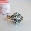 1.05ctw Victorian Old Mine Cut Cluster Ring 5