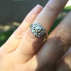 1.05ctw Victorian Old Mine Cut Cluster Ring 29