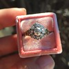 1.05ctw Victorian Old Mine Cut Cluster Ring 22