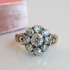1.05ctw Victorian Old Mine Cut Cluster Ring 8