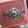1.05ctw Victorian Old Mine Cut Cluster Ring 25