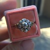 1.05ctw Victorian Old Mine Cut Cluster Ring 24