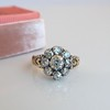 1.05ctw Victorian Old Mine Cut Cluster Ring 11