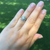 1.05ctw Victorian Old Mine Cut Cluster Ring 30