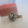 1.05ctw Victorian Old Mine Cut Cluster Ring 6