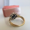 1.05ctw Victorian Old Mine Cut Cluster Ring 14