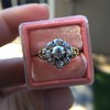 1.05ctw Victorian Old Mine Cut Cluster Ring 27