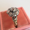 1.05ctw Victorian Old Mine Cut Cluster Ring 17