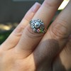 1.05ctw Victorian Old Mine Cut Cluster Ring 28