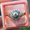 1.05ctw Victorian Old Mine Cut Cluster Ring 26