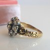 1.05ctw Victorian Old Mine Cut Cluster Ring 10
