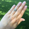 1.05ctw Victorian Old Mine Cut Cluster Ring 31