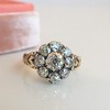 1.05ctw Victorian Old Mine Cut Cluster Ring 4