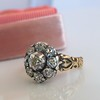 1.05ctw Victorian Old Mine Cut Cluster Ring 7