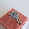 1.05ctw Victorian Old Mine Cut Cluster Ring 16