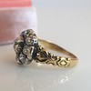 1.05ctw Victorian Old Mine Cut Cluster Ring 9