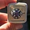 3.62ct (est) Georgian Sapphire Cluster Ring AGL No Heat 19